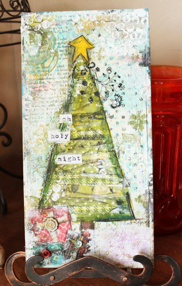 christytomlinson  christmas mixed media canvas tutorial