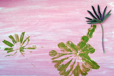 Art flower leaf