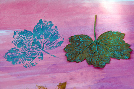 Art leaf stamp
