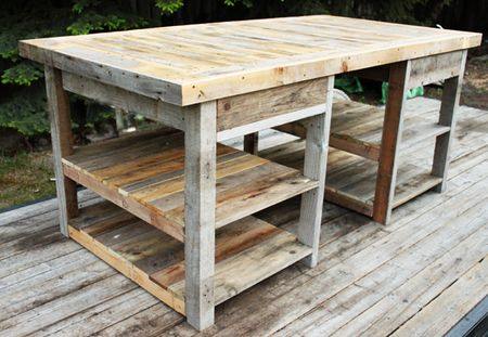 Beautiful I Had Him Make It Out Of Old Barn Wood We Had. It Gave It A More Rustic  Feel To It. I Wanted An Open Space Under The Table. In The Middle, ...