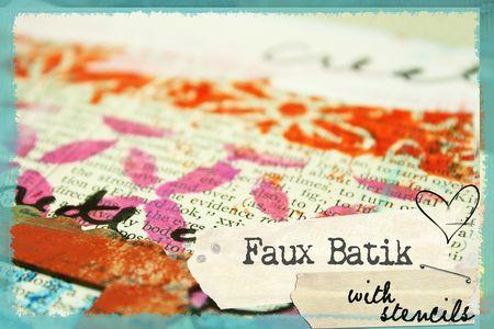 Fauxbatik