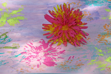 Art dandelion