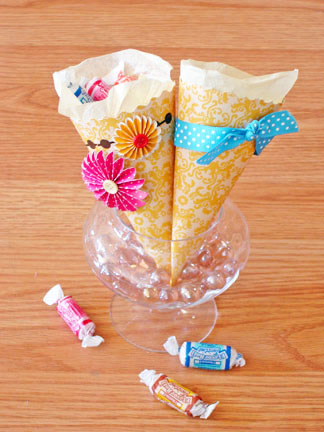 Cone with candy
