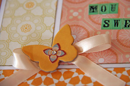 Cards close butterfly