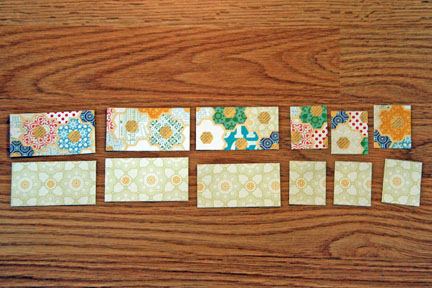 Cards trim small strips