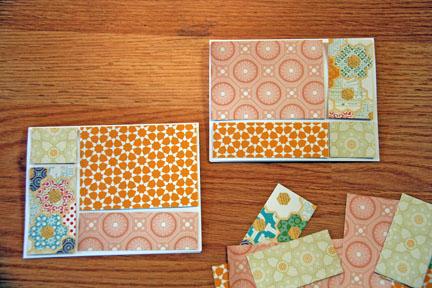 Cards begin arranging