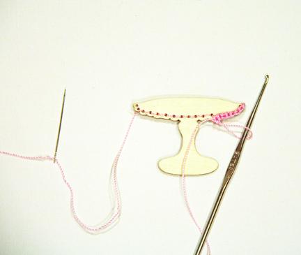 Crochet table