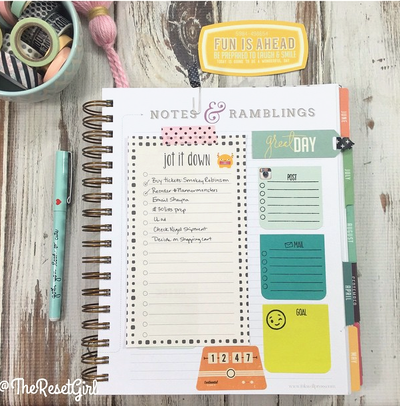 things like planner stamps sticky notes paperclips notepads planner ...